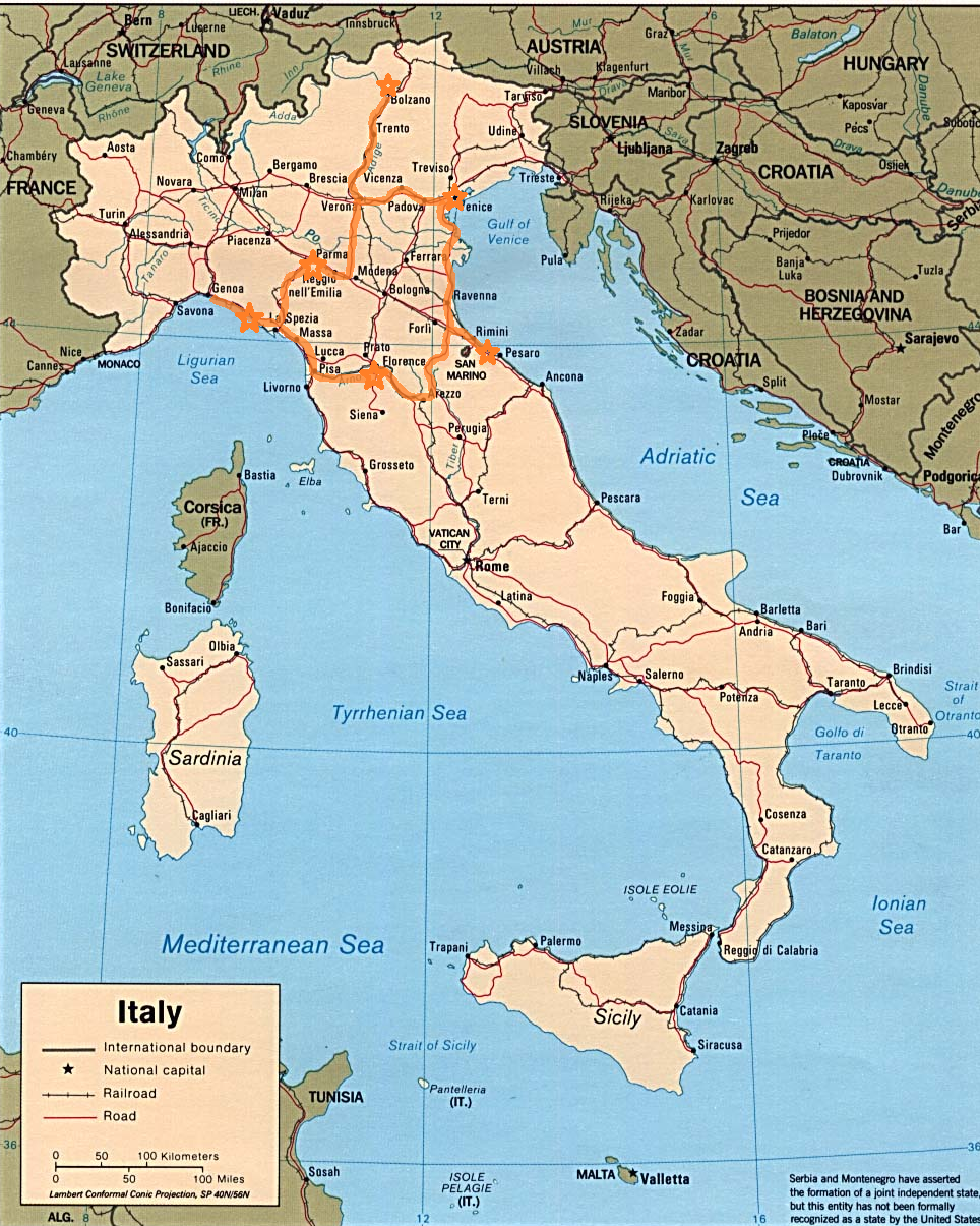 Show Me A Map Of Italy Can You Show Me A Map Of Italy Show Me A Map Of Italy