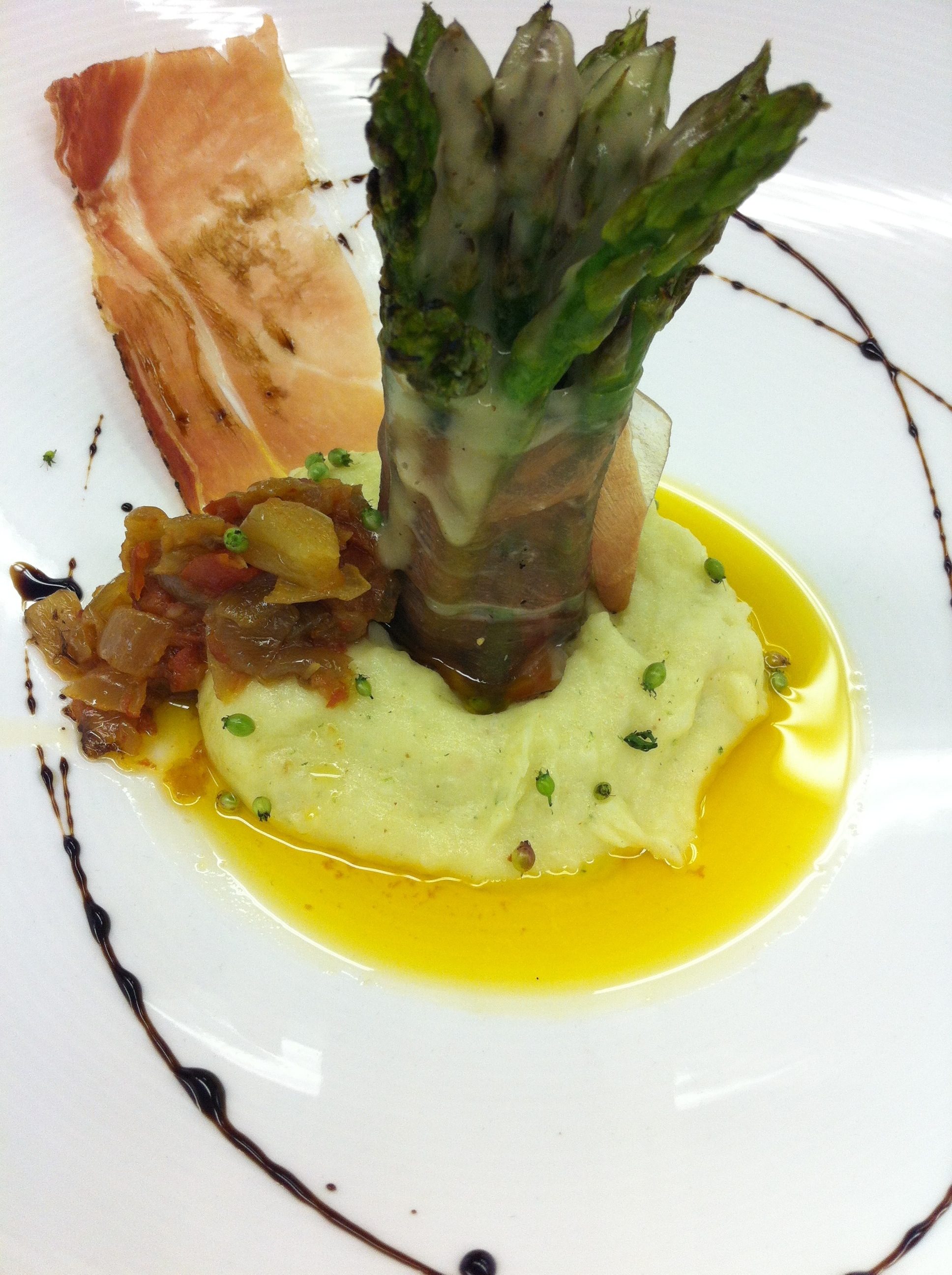 Grilled Asparagus with Parsnip Puree | AKulinary Blog