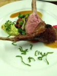 Rack of lamb with favetta, legumes and jus